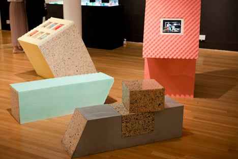 Museum furniture made from foam by Sungsin Eo