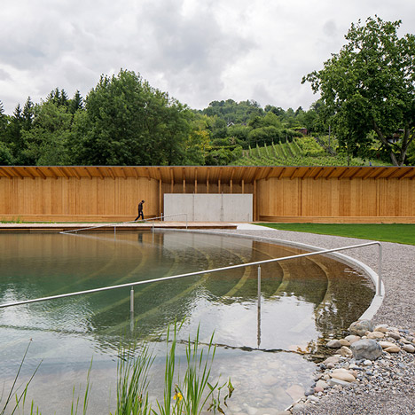 Herzog & de Meuron creates naturally filtered<br /> swimming pool in Switzerland