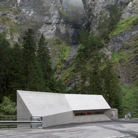 New Visitors Center in the Viamala Gorge by Iseppi-Kurath_dezeen_50sq