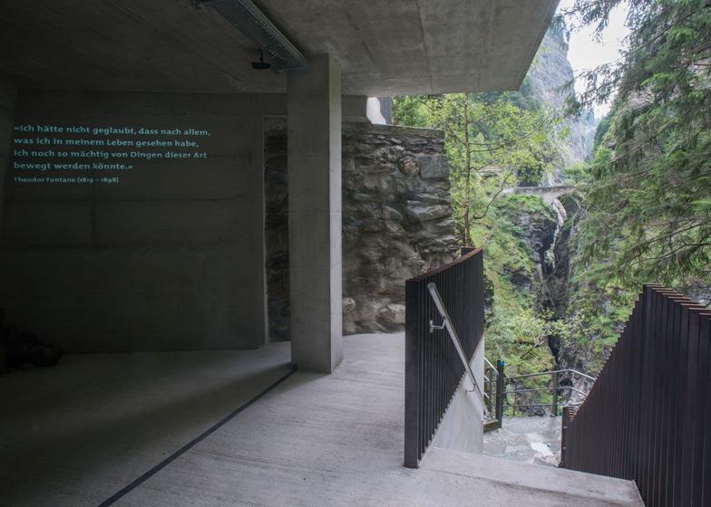 New Visitors Center in the Viamala Gorge by Iseppi-Kurath