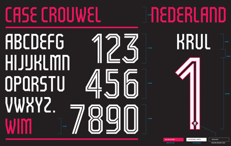 Wim Crouwel designs typeface for Holland's Fifa World Cup