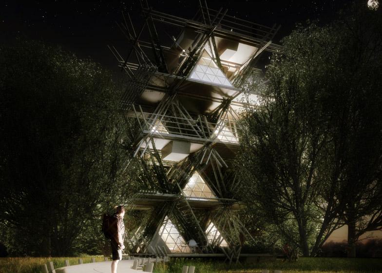 Penda's modular bamboo hotel