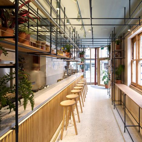 Opso restaurant in London by K-Studio