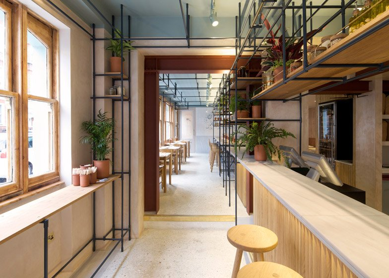 Opso restaurant in London by K-Studio