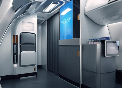 Priestmangoode airline interior for Embraer