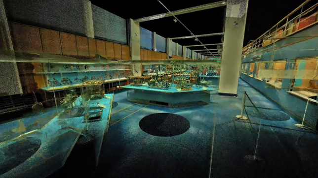 3D scan of a Science Museum gallery by ScanLAB