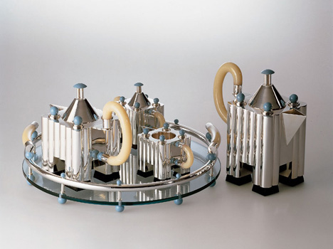 Limited edition silver tea and coffee set by Michael Graves for Alessi