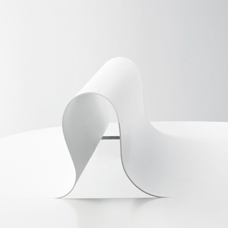 Nendo manipulates metal to form Softer than Steel furniture collection
