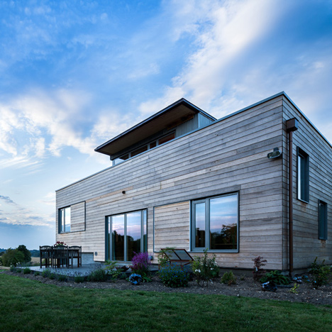 Cedar-clad Stackyard by Mole Architects is a house based on old rectories
