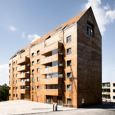 Wingårdhs completes prefabricated apartment block built entirely from wood