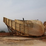 Looping wooden viewing platform in China built by students in just six days