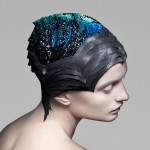 Chameleonic gemstones map brain activity across headdress by The Unseen