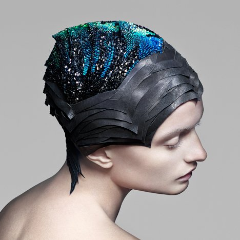 Vicenza headdress by The Unseen for Swarovski