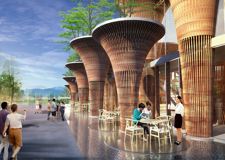 Vietnam Pavilion at the Milan Expo by Vo Trong Nghia Architects
