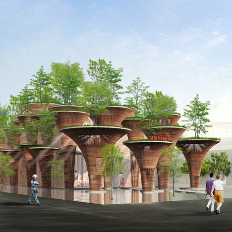 "Vo Trong Nghia plans bamboo ""lotus pods"" for Vietnam's Milan Expo pavilion"