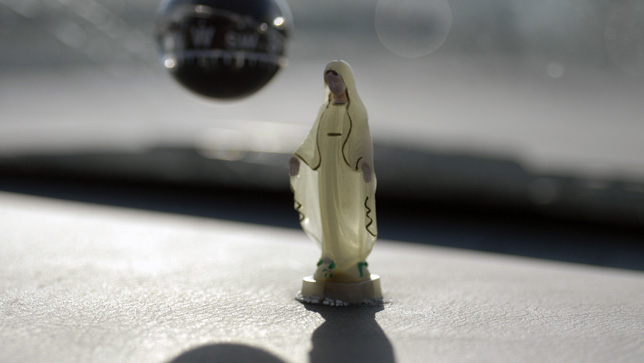 Virgin Mary dashboard figure