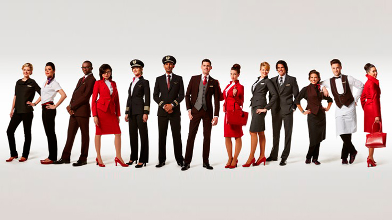 Vivienne Westwood Virgin Atlantic uniforms