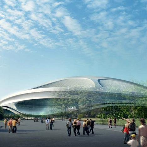 Zaha Hadid modified Tokyo Olympic stadium