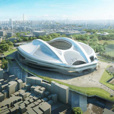 Zaha Hadid's modified Tokyo Olympic stadium design