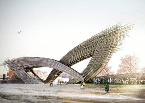 Lengths Of Bamboo Create The Giant Petals Of Penda 39 S