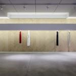 Dori concept store by Archiplan Studio features a chevron wall