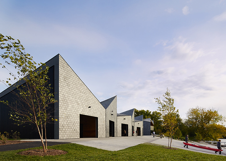 WMS Boathouse at Clark Park, United States, by Studio Gang Architects