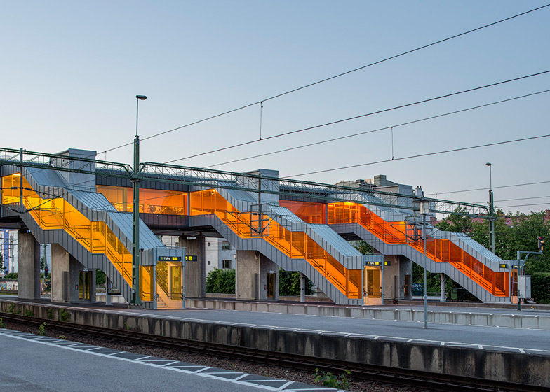 Skyttelbron, Shuttle Bridge in Lund, Sweden, by Sweco Architects