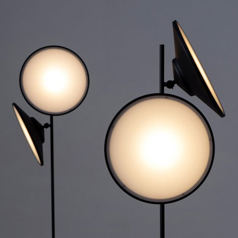 Nir Meiri's double-headed 2 Moons lamp mimics celestial bodies