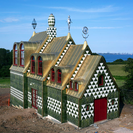 First photographs of Grayson Perry and FAT's house for Alain de Botton