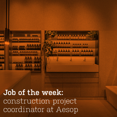 Job of the week: construction project coordinator at Aesop