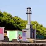 Pablo Bronstein honours Nicholas Hawksmoor with lighthouse/beach hut hybrid in Folkestone