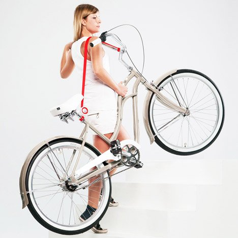Bike Lift and Carry by Mukomelov helps to transport bicycles up steps