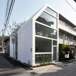 Yuko Nagayama's cafe and sweet shop wraps around a tree