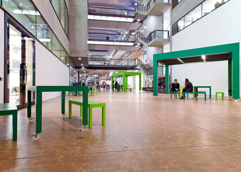 Central St Martins tables by Featherstone Young Architects