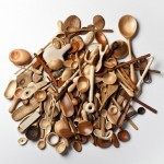 Stian Korntved Ruud is hand carving a wooden spoon every day for a year