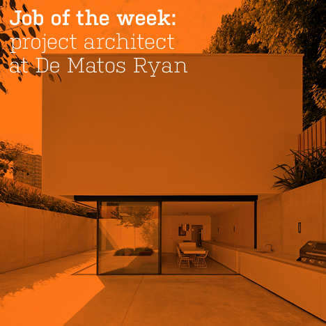 Job of the week: project architect at De Matos Ryan