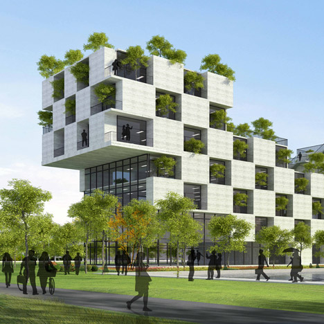 Vo Trong Nghia's chequerboard university<br /> building gets going in Vietnam