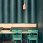 Note Design Studio uses desert colours in Stockholm bistro