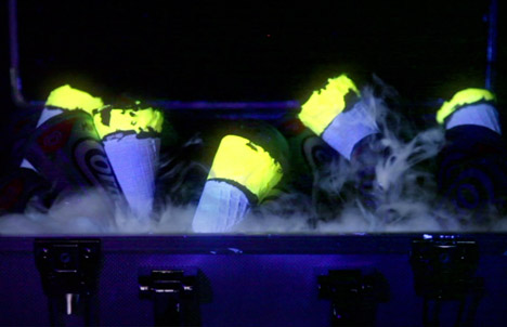 Glow-in-the-dark Cornettos by Bompas and Parr