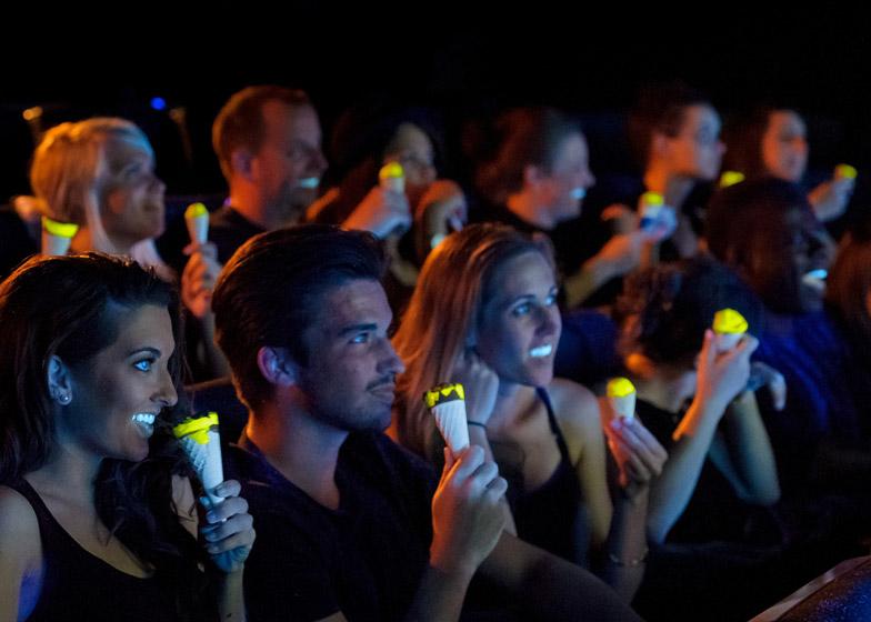 Cornetto ice creams by Bompas & Parr glow in the dark