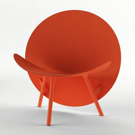 Michael Sodeau uses Formula 1 engineering to create carbon-fibre Halo chair