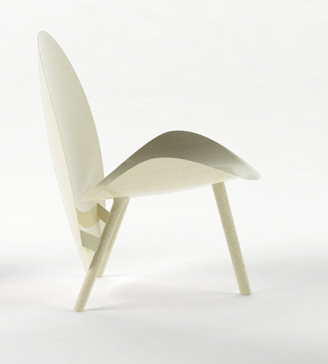 Hypetex Halo lounge chair by Michael Sodeau
