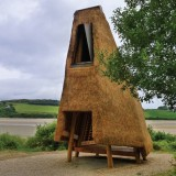 Jeffry's House by Emily Mannion and Thomas O'Brien is a thatched folly by the sea