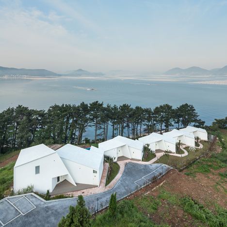 Atelier Chang designs angular cliff-top buildings for Knot House resort