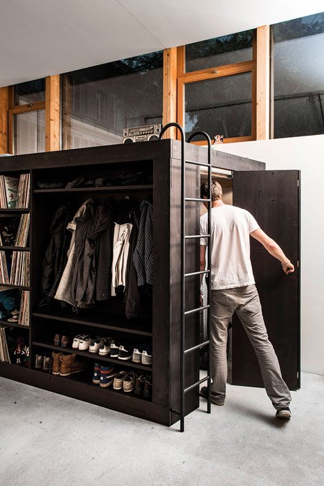 The living cube by till k nneker saves space in micro for Studio apartment solutions