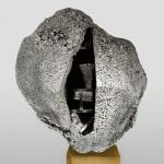 Studio Swine uses aluminium foam to create Metallic Geology cabinets