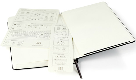 Moleskine notebook by Livescribe