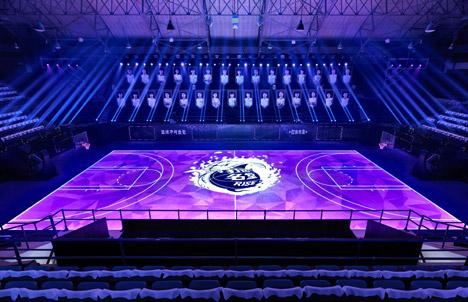 Nike LED basketball court