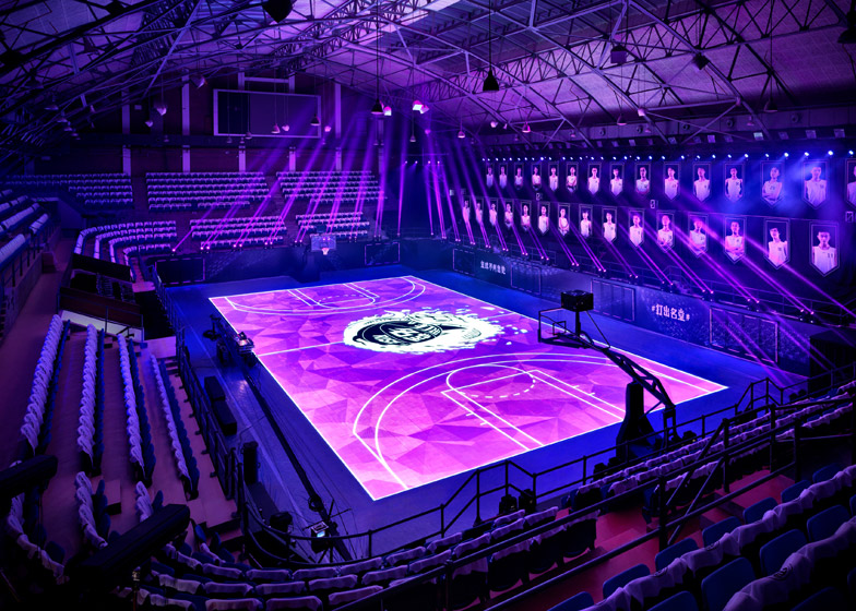 Nike LED basketball court