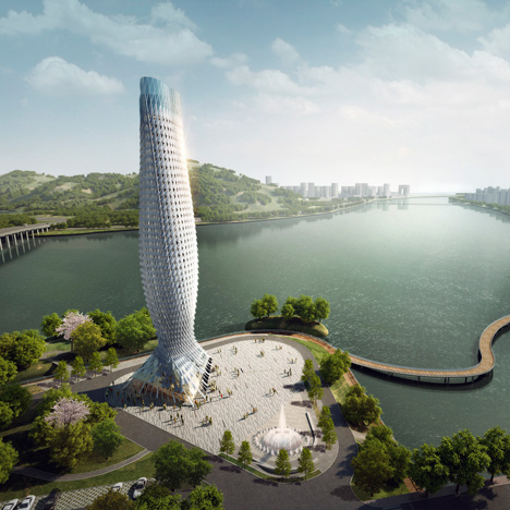 Fish-inspired skyscraper by RMJM wins Chinese tower contest